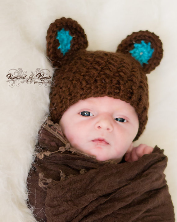 Crochet Pattern For Baby Hat With Ears : Crochet Bear Hat Pattern images